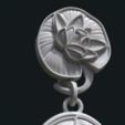 Download 3D printer designs Water Lily Earring, Skazok