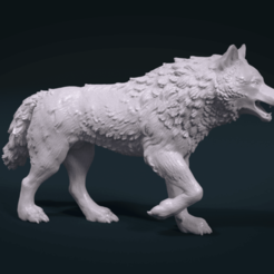 STL Wolf Figure, Skazok
