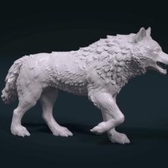3d printer model Wolf Figure, Skazok