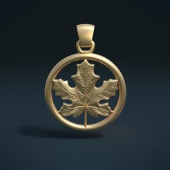 Download 3D printer designs Maple Pendant, Skazok