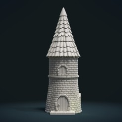 3D printing model Fantasy Tower House, Skazok