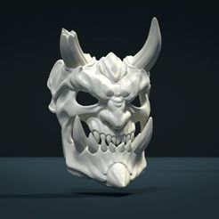 STL file Demon Mask II, Skazok