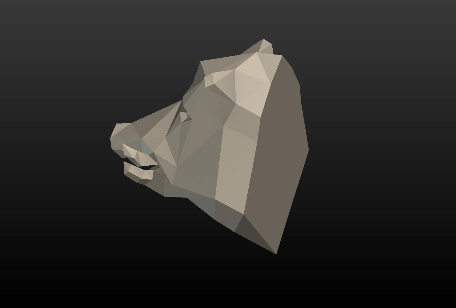 Boars_LP_Head-0012.png Download 3DS file Boar Head Low Poly • 3D print model, Skazok