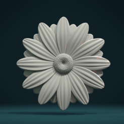 Daisy-01.png Download STL file Daisy • 3D printer design, Skazok