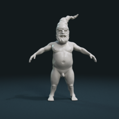 STL file Naked Gnome, Skazok