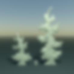 two_fir-tree.obj Download 3DS file Two fir trees • 3D printer design, Skazok