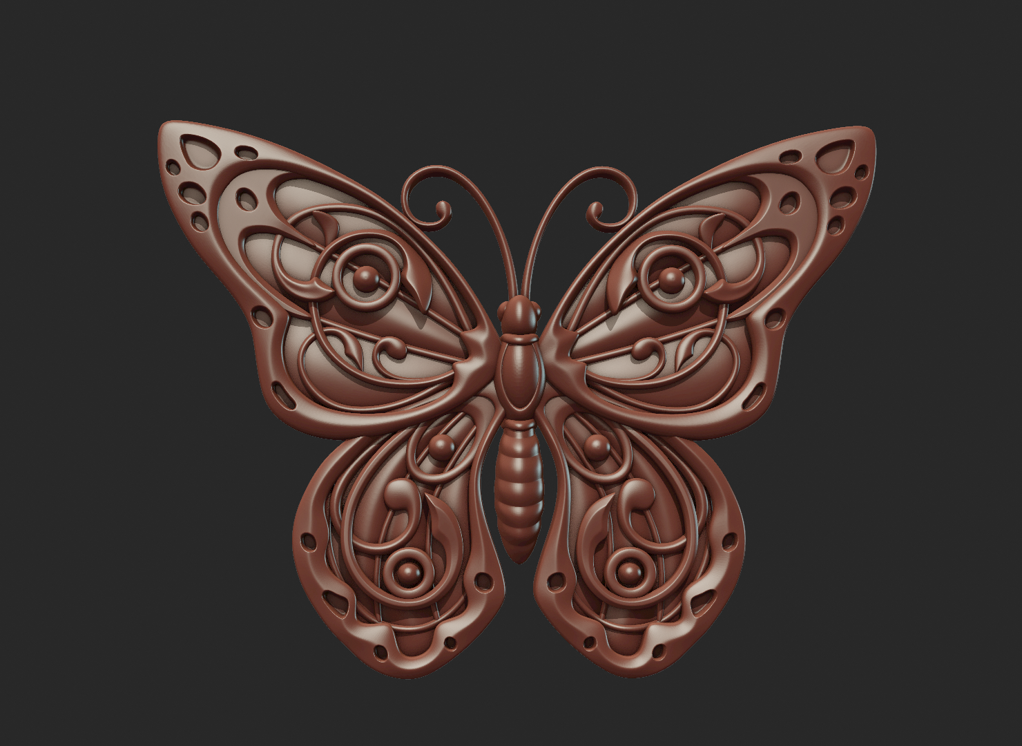 Butterfly_OPGL_28-04.png Download STL file Butterfly relief • Model to 3D print, Skazok