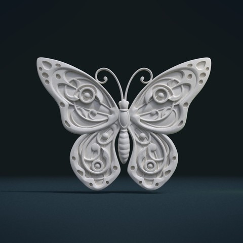 Butterfly_Cycles-0004.jpg Download STL file Butterfly relief • Model to 3D print, Skazok