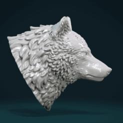 Download 3D printer templates Wolf Head III, Skazok