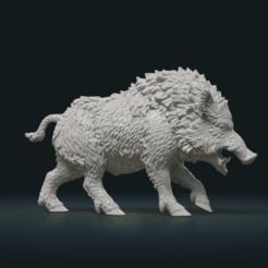 3D print files Wild Boar Figure, Skazok