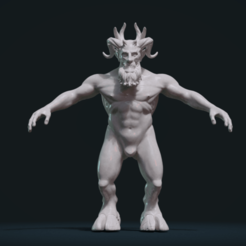 Download 3D printer templates Demon figure, Skazok