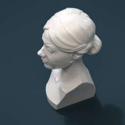 3D printing model Girls Head, Skazok