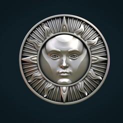 SunP-02x.jpg Download STL file Sun Pendant • 3D printer object, Skazok