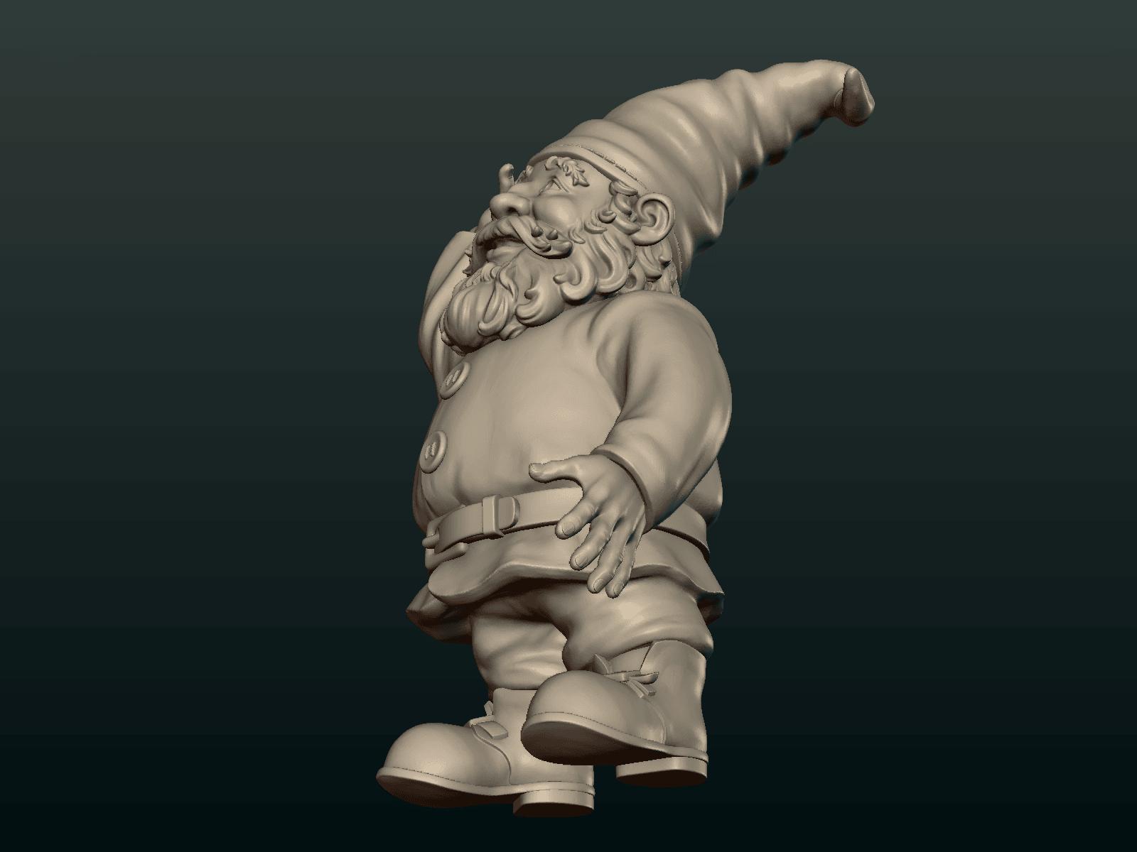 Garden_Gnome-20.png Download STL file Garden Gnome • 3D printing design, Skazok