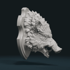 Download 3D printing files Wild Boar Mounted Head, Skazok