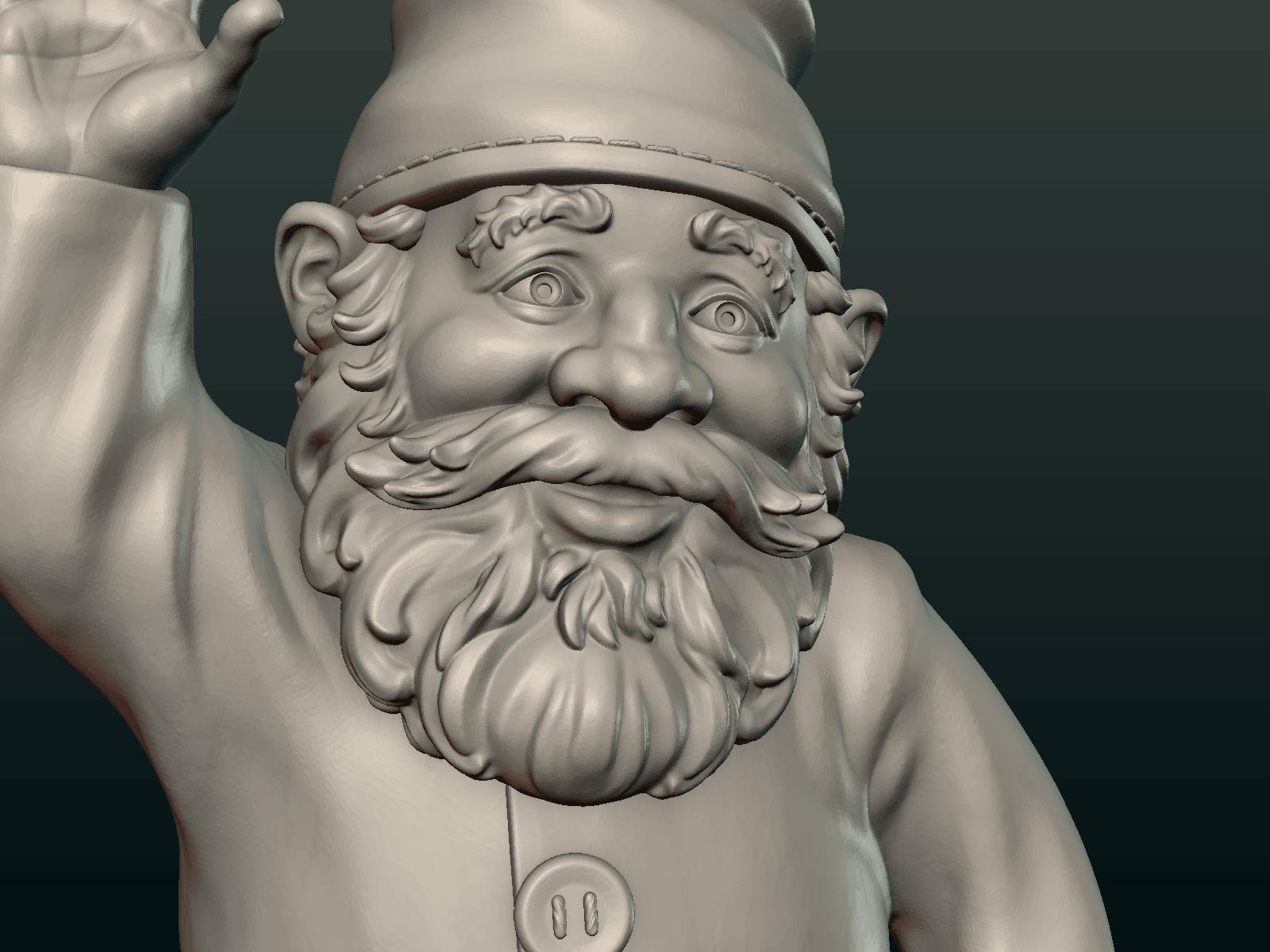 Garden_Gnome-12.png Download STL file Garden Gnome • 3D printing design, Skazok