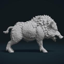 Download 3D print files Wild Boar in static pose, Skazok