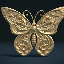 3d model Butterfly relief, Skazok