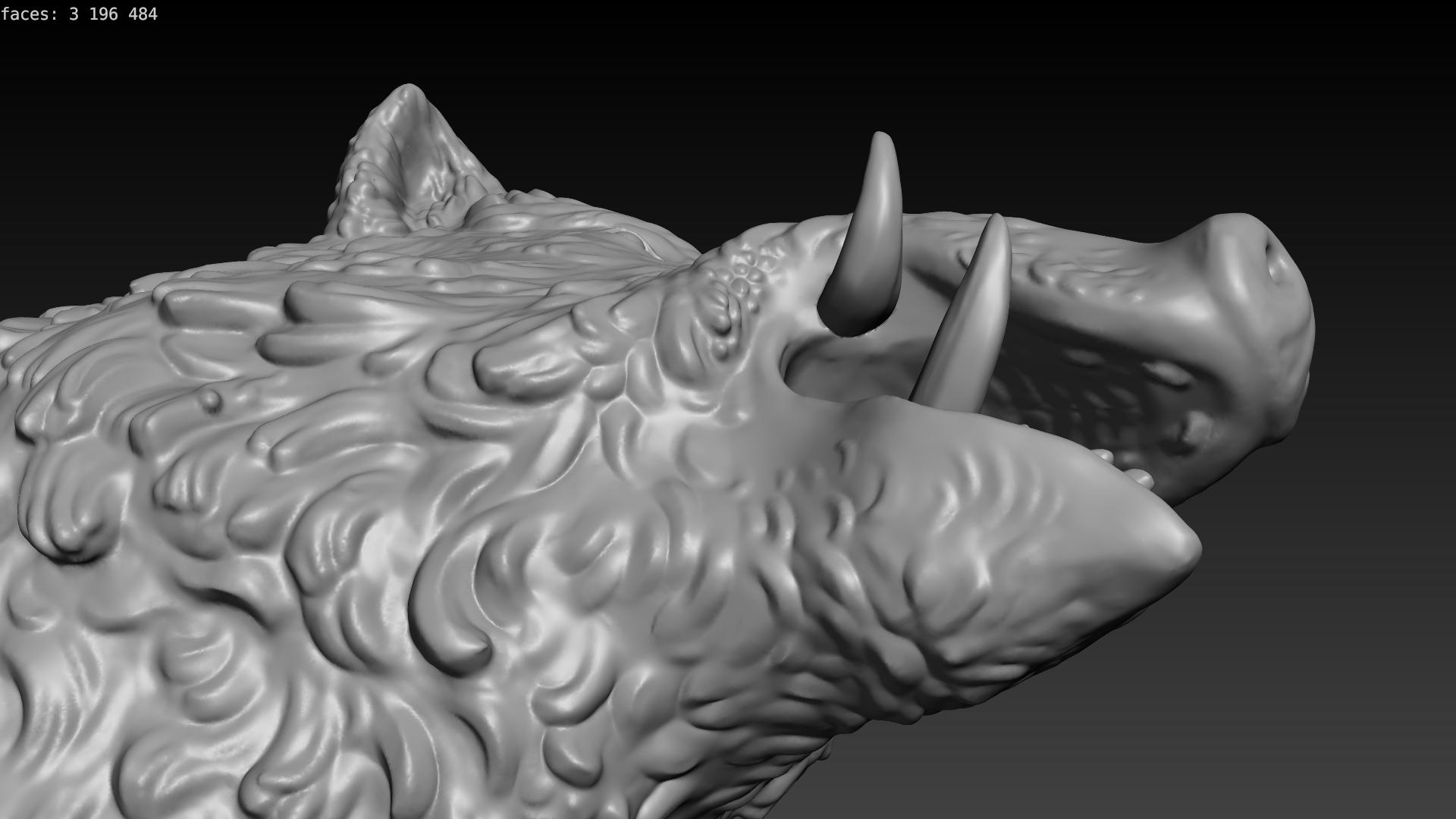 boar-09.png Download STL file Boar • 3D printable design, Skazok