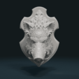 STL Wild Boar Mounted Head, Skazok