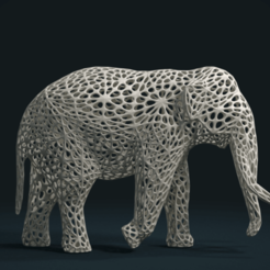 Mesh_Elephant_C-01.png Download STL file Mesh Elephant • 3D printer design, Skazok