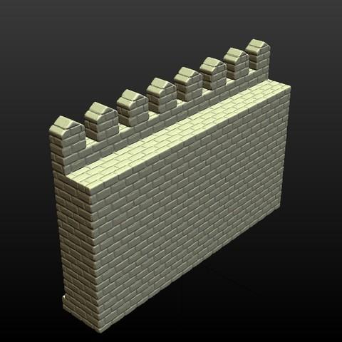 Castle_Wall-005.jpg Download 3DS file Castle wall • 3D printable design, Skazok