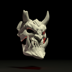 mask6.png Download 3DS file Demon Mask • 3D printing design, Skazok