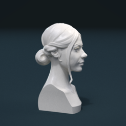 Download 3D printer designs Woman Hair Stile, Skazok