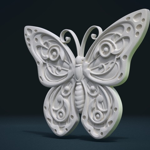 Butterfly_Cycles-0003.jpg Download STL file Butterfly relief • Model to 3D print, Skazok