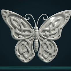 Download 3D printer designs Celtic Butterfly, Skazok