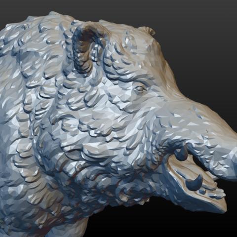 boar-16.png Download STL file Boar • 3D printable design, Skazok