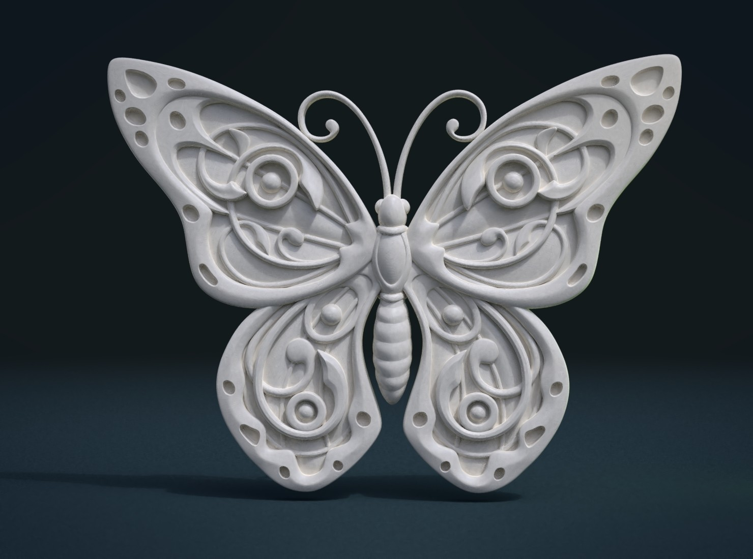 Butterfly_Cycles-0001.jpg Download STL file Butterfly relief • Model to 3D print, Skazok