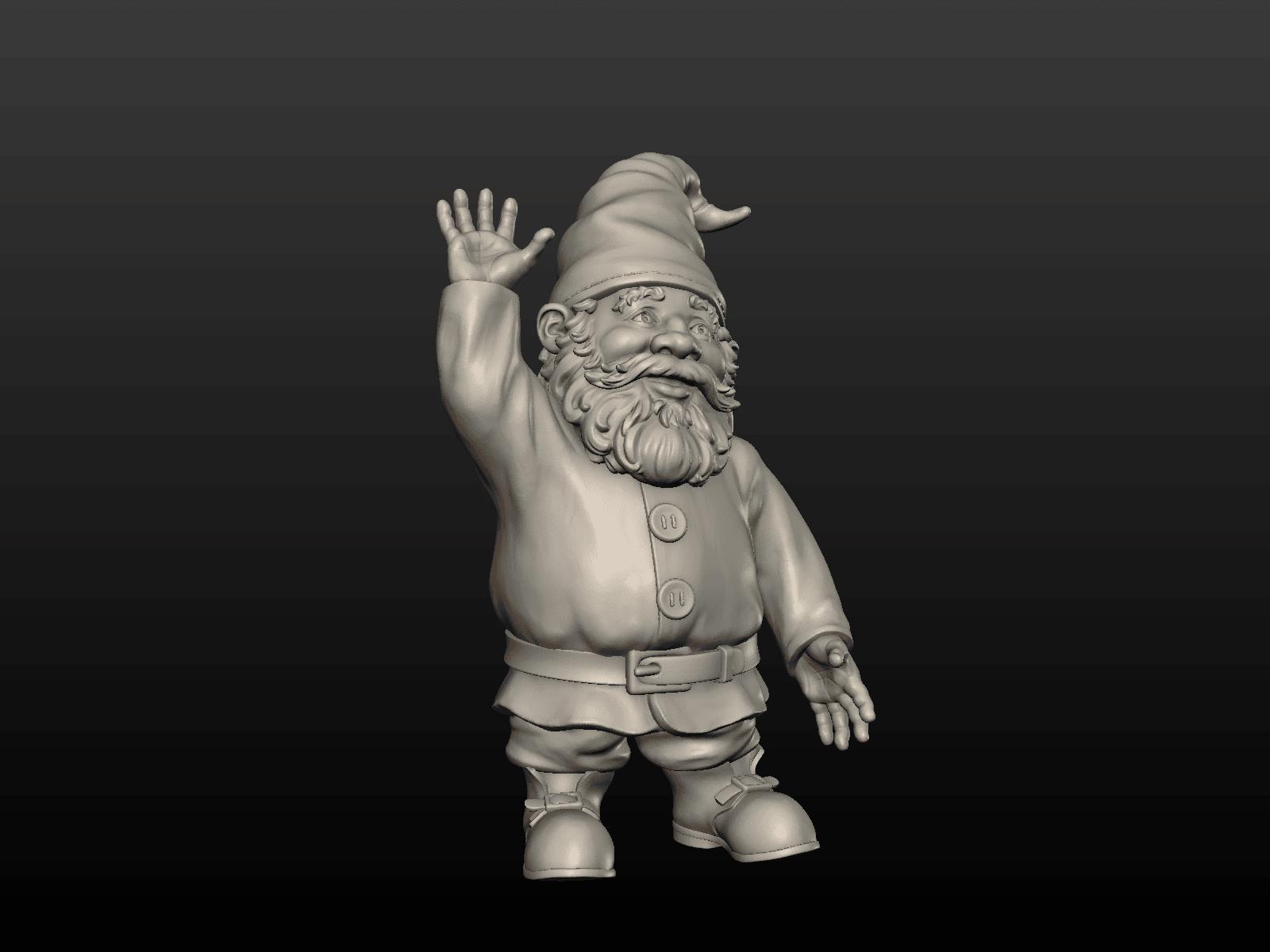 Garden_Gnome-02.png Download STL file Garden Gnome • 3D printing design, Skazok