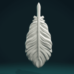 Feather_III-01.png Download STL file Bird Feather. • 3D printer design, Skazok