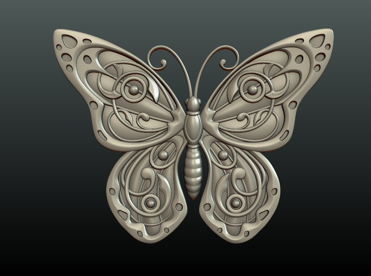 Butterfly_OPGL_27-01.jpg Download STL file Butterfly relief • Model to 3D print, Skazok