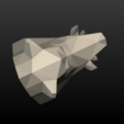 Boars_LP_Head-0010.png Download 3DS file Boar Head Low Poly • 3D print model, Skazok