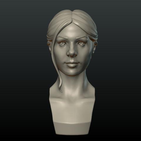 Girl_Head_I-0003.png Download 3DS file Girls Head • 3D print object, Skazok