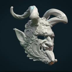 Download 3D print files Demon Satyr Mask, Skazok