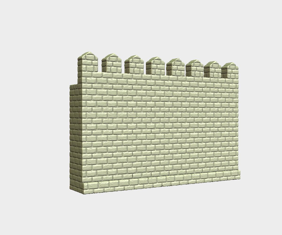 Castle_Wall-Sugnature.png Download 3DS file Castle wall • 3D printable design, Skazok