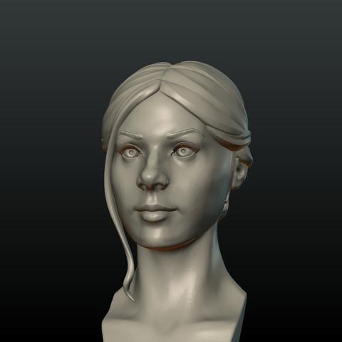 G_Head-07.png Download 3DS file Girls Head • 3D print object, Skazok