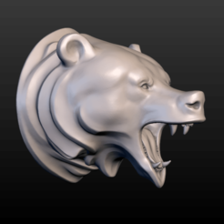 3D printer files Bear Head, Skazok