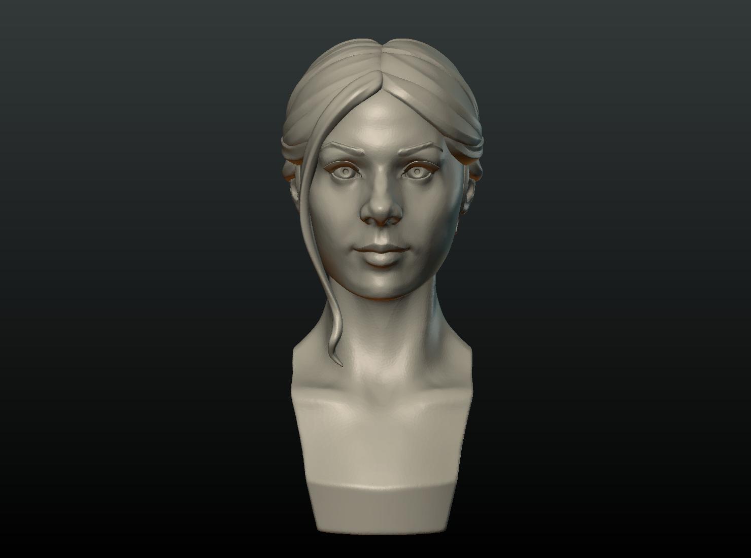 G_Head-02.png Download 3DS file Girls Head • 3D print object, Skazok