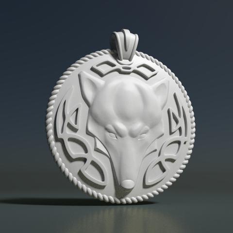 3d printer model Wolf Pendant, Skazok