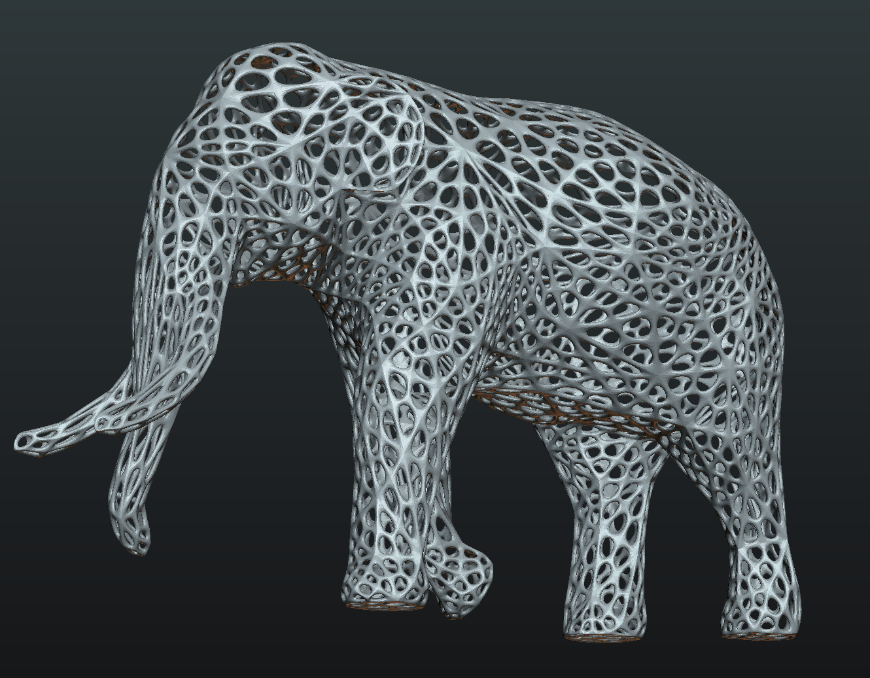 Mesh_Elephant-01.png Download STL file Mesh Elephant • 3D printer design, Skazok