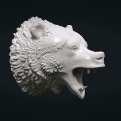 3D print files Bear Head II, Skazok