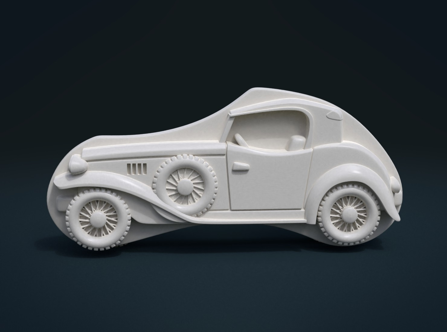 Car_Cycles-03.jpg Download STL file Car Relief • Design to 3D print, Skazok