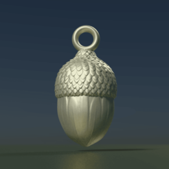 Download 3D printing designs Acorn Pendant, Skazok