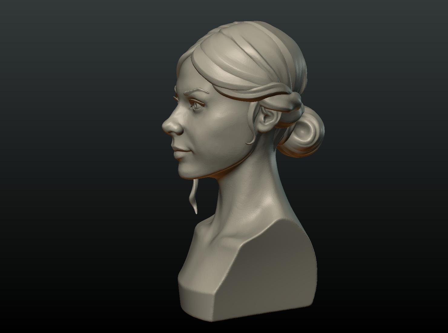 G_Head-06.png Download 3DS file Girls Head • 3D print object, Skazok