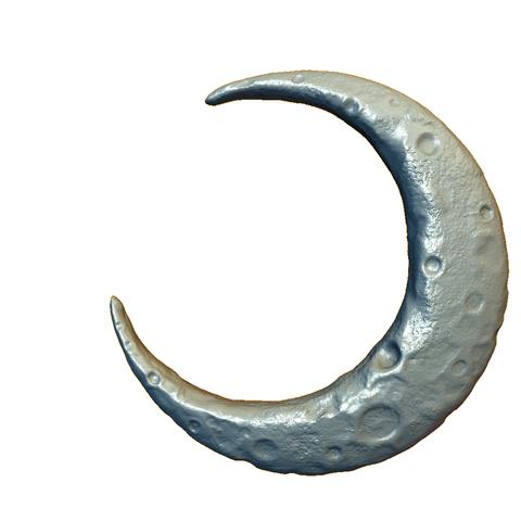crescent_signature.png Download OBJ file Crescent • 3D printable model, Skazok