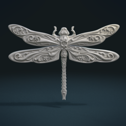 3D print model Dragonfly Relief, Skazok